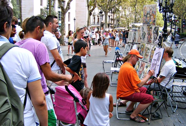 Barcelona La Rambla Artists