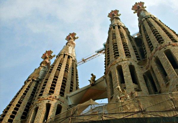 Barcelona Sagrada Familia four towersBarcelona Sagrada Familia four towers