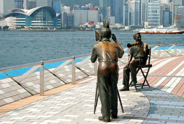 Hong Kong Avenue Of Stars Film Crew Statues