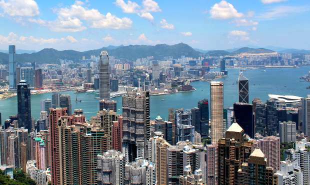 Hong Kong Victoria Peak Skyline Day