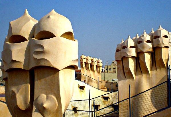 Barcelona Casa Mila La Pedrera chimneys