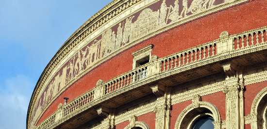 London Royal Albert Hall roofline
