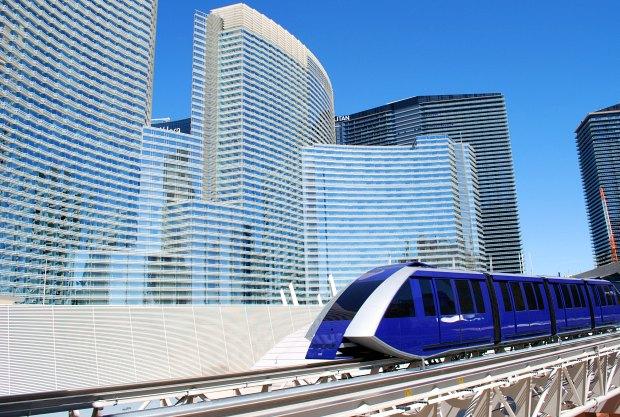 Las Vegas Aria Tram angle