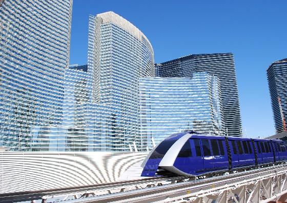 Las Vegas Aria tram (www.free-city-guides.com)