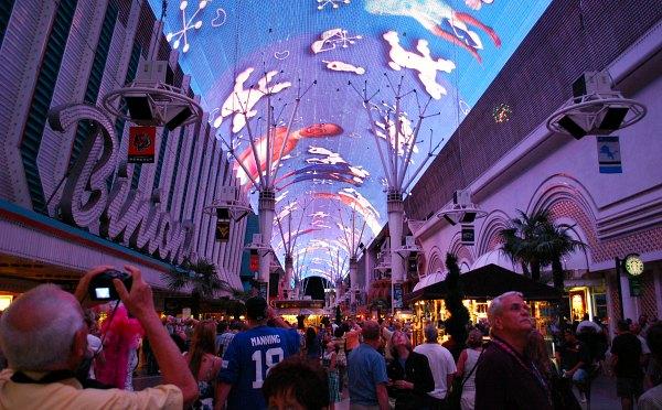 Las Vegas Fremont Street Experience purple
