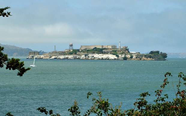 San Francisco Alcatraz from bay