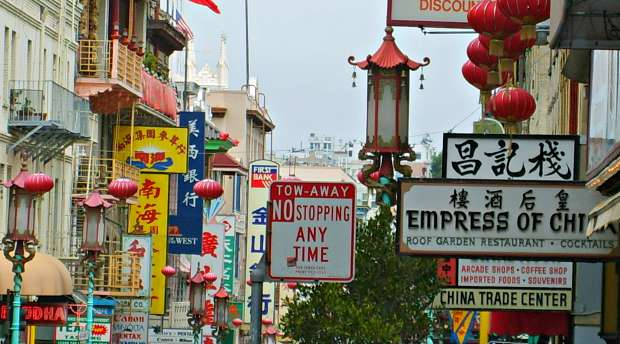 San Francisco Chinatown Signs clear