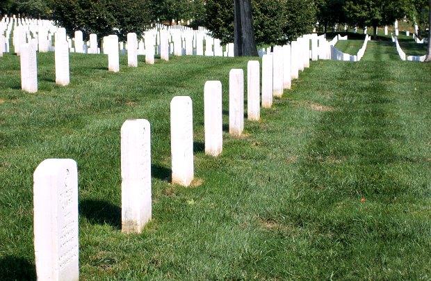 Washington Arlington Cemetery grave lines