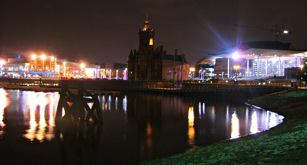 Cardiff Bay Lights at Night