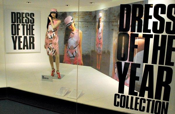 Bath Fashion Museum Dress of The Year Display