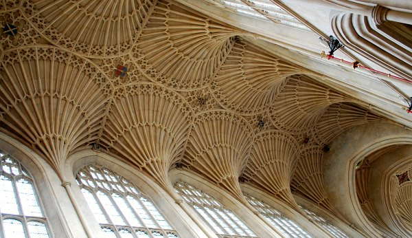 Bath Abbey ceiling