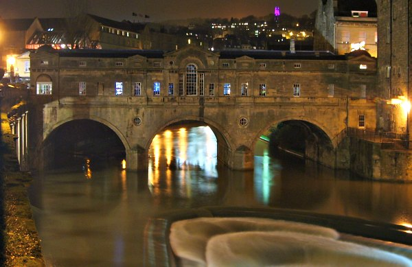 Bath Pulteney Bridge Nightime