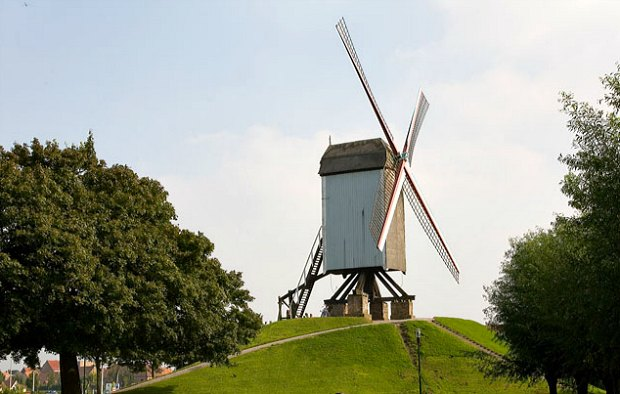 Bruges Windmill white