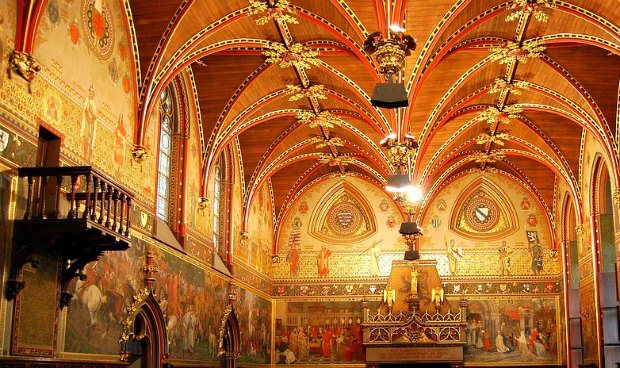 Bruges Stadhuis ceiling