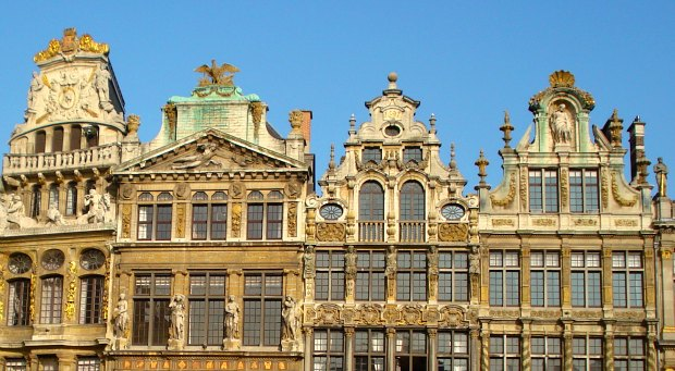 Brussels Grand Place Roof line
