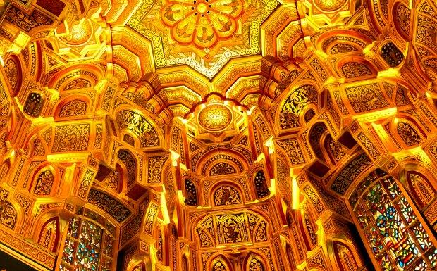 Cardiff Castle Arab Room Ceiling