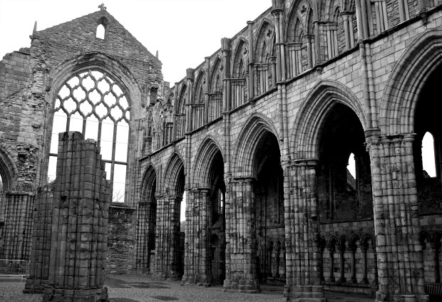 Edinburgh Holyrood Abbey BW