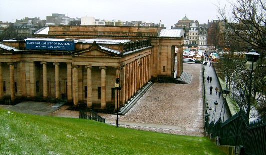 The National Gallery of Scotland on a snowy day