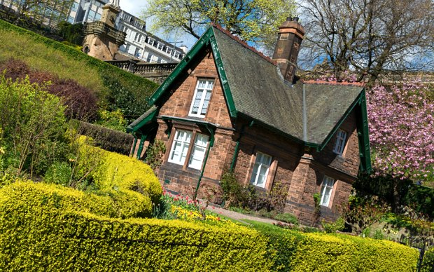 Edinburgh Princes Street Gardens cottage