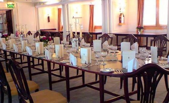 Edinburgh Royal Yacht dining table