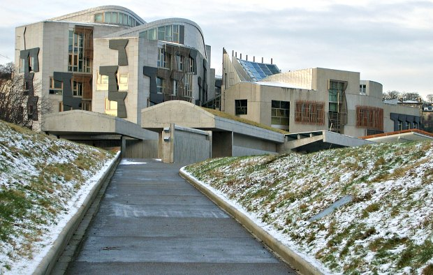 Edinburgh Scottish Parliament snow
