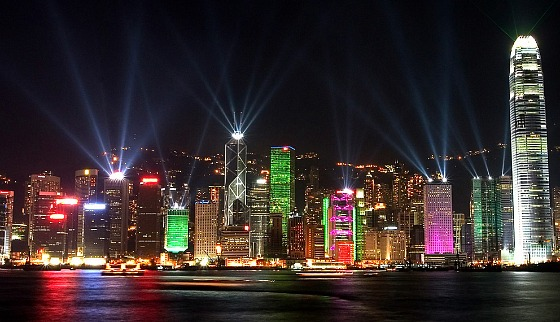 Hong Kong Symphony of Lights waterfront