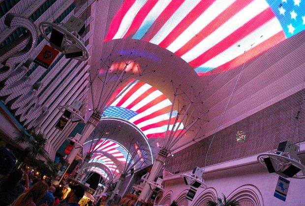 Las Vegas Fremont Street USA Flag