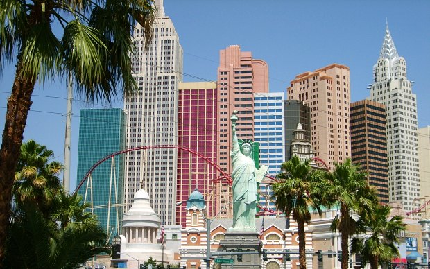 Las Vegas New York New York Skyline