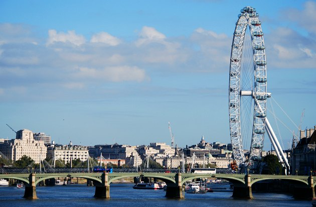 London Eye With RIver