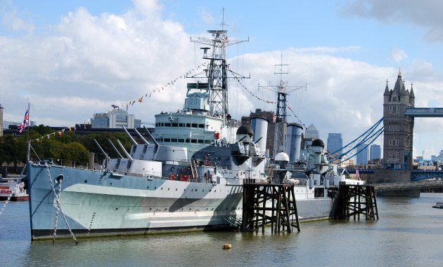 London HMS Belfast wide