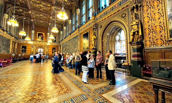 The beautiful Royal Gallery in the House of Lords, London. Parliamentary copyright images are reproduced with the permission of Parliament.