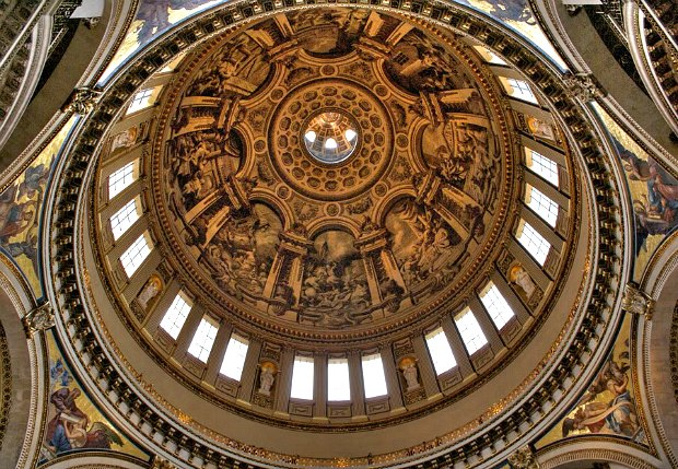 London St Pauls dome internal