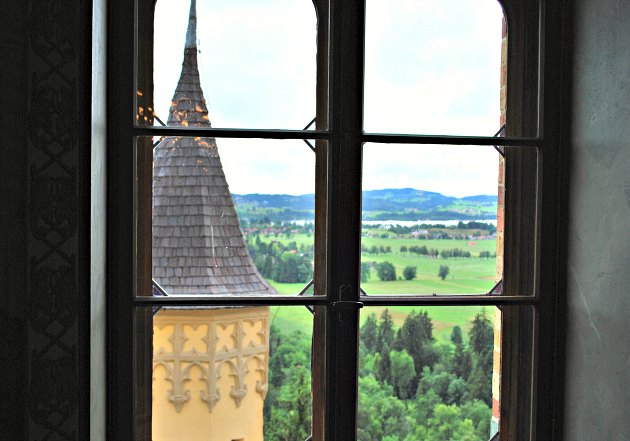 Hohenschwangau Castle Window View