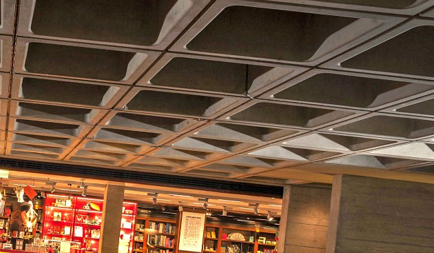 London National Theatre indoor ceiling