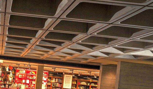 London National Theatre indoor ceiling