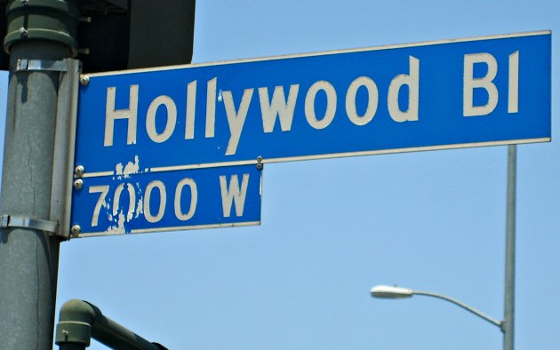 Los Angeles Hollywood Bl Sign