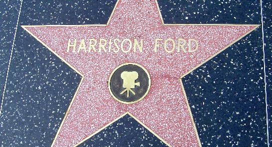Harrison Ford's star on Hollywood Boulevard