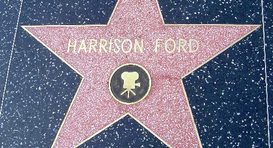 Harrison Ford's star on Hollywood Boulevard