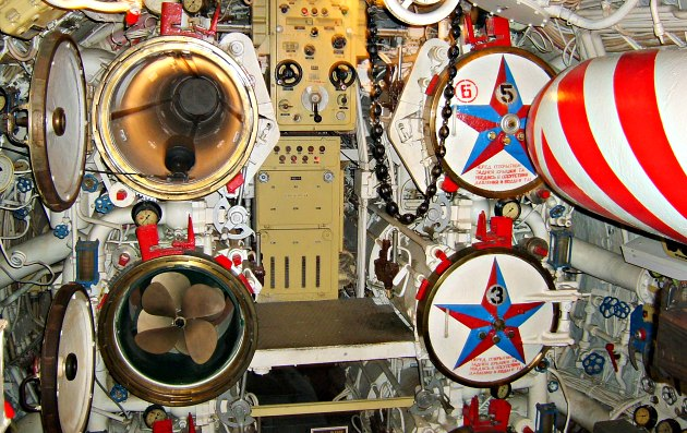 Los Angeles Queen Mary Russian Sub Torpedo Tubes