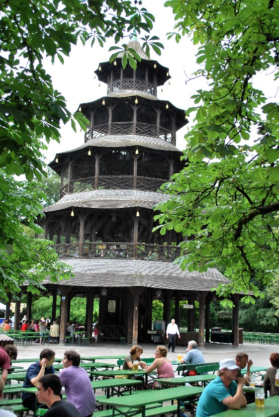 Munich English Garden Chinese Tower