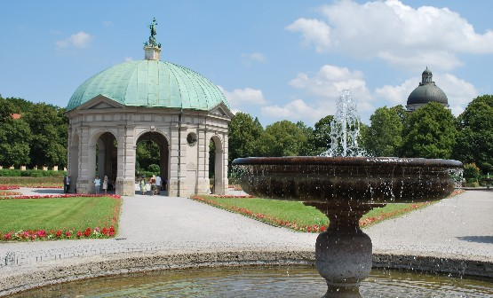Munich Hofgarten water feature