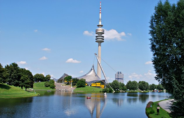 Munich Olympic Park Lake new