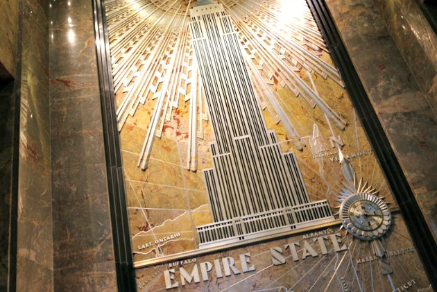 New York Empire State Building Mural