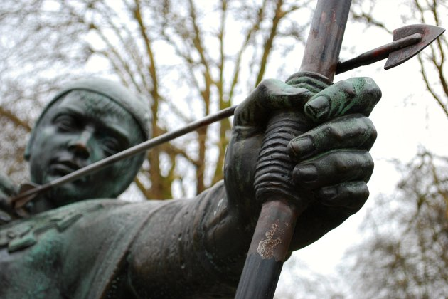 Robin Hood statue at Nottingham Castle