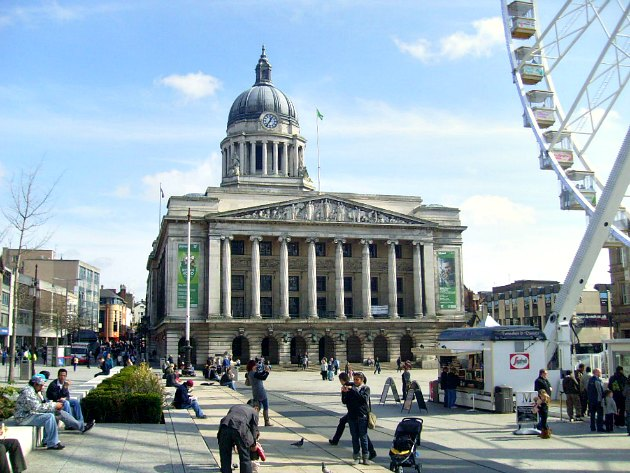 Nottingham Council House And Market Square