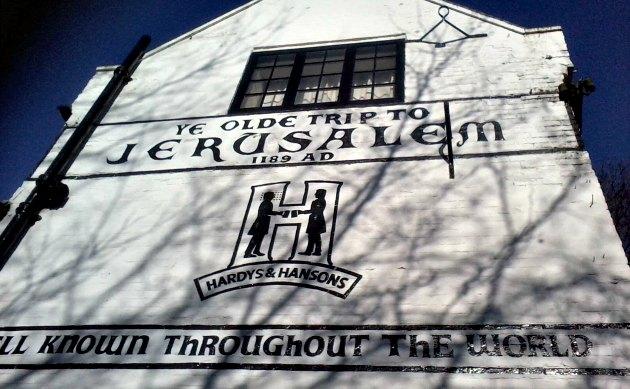 Nottingham Ye Olde Trip To Jerusalem Painted Wall