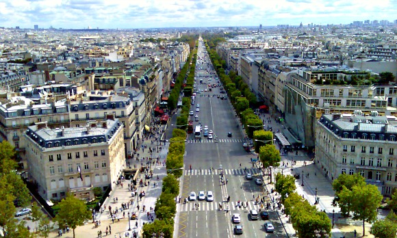 Paris Champs Elysees from Arc De Triomph