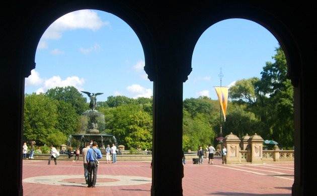 New York Central Park Bethesda Terrace