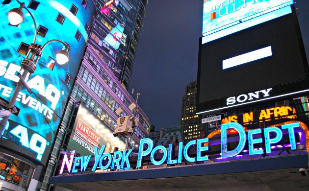New York Times Square Police Sign