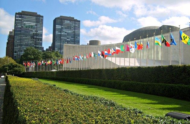 New York UN Exterior Flags
